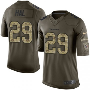 Men's Andre Hal Houston Texans Limited Green Salute to Service Jersey