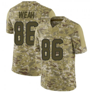 Men's Jester Weah Houston Texans Limited Camo 2018 Salute to Service Jersey