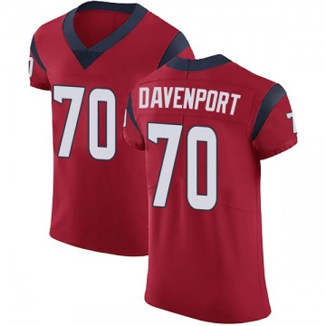 Men's Julie'n Davenport Houston Texans Elite Red Alternate Vapor Untouchable Jersey