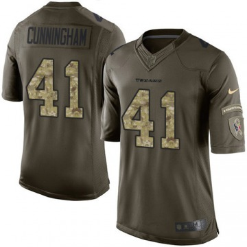 Men's Zach Cunningham Houston Texans Limited Green Salute to Service Jersey