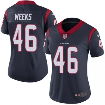 Women's Jon Weeks Houston Texans Limited Navy Blue Team Color Jersey