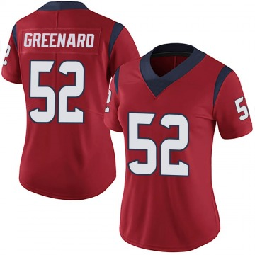 Women's Jonathan Greenard Houston Texans Limited Red Alternate Vapor Untouchable Jersey