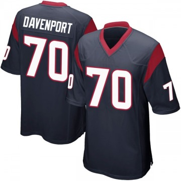 Youth Julie'n Davenport Houston Texans Game Navy Blue Team Color Jersey