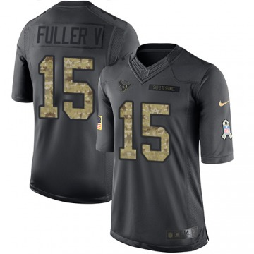 Youth Will Fuller V Houston Texans Limited Black 2016 Salute to Service Jersey